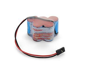Tenergy NiMH Receiver Battery with Hitec Connector, 6V 1600mAh High Capacity Rechargeable Side by Side Hump Battery Pack for RC Cars