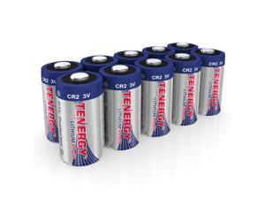 Tenergy CR2 3V Lithium Battery Non-Rechargeable PTC Protected High Performance CR2 Batteries for Flashlight, Digital Cameras, Toys, Alarm Systems (Not For Arlo Camera) 10PCS