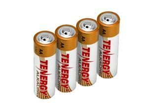 Tenergy 1.5V AA Alkaline Battery, High Performance AA Non-Rechargeable Batteries for Clocks, Remotes, Toys & Electronic Devices, Replacement AA Cell Batteries, 4-Pack
