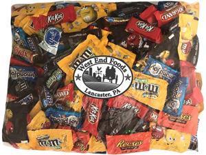 Chocolate Candy (90 oz) Bulk Variety Pack Reese's Peanut Butter Cups Snickers Bars York Peppermint Patties Twix Almond Joy Kit Kat M&Ms Peanut M&Ms Milk Chocolate 100 Grand Bars Milky Way