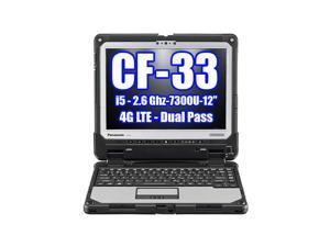 Panasonic Toughbook CF-33 i5-7300U 2.60GHz 4G LTE Dual Pass, 256GB SSD, 8GB Ram, Windows 10 Pro