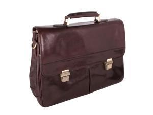 Fine Italian Leather Computer Bag in Brown by Giglio Fiorentino