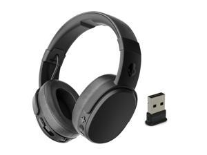 Skullcandy Crusher Wireless Black/Coral & Plugable Bluetooth USB Adapter