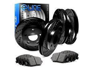 [COMPLETE KIT] Black Edition Drilled Slotted Brake Rotors & Ceramic Brake Pads