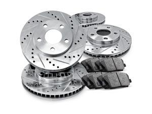 [COMPLETE KIT] eLine Drilled Slotted Brake Rotors & Ceramic Pads CEC.3403302