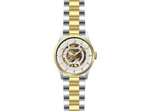 Invicta 27572 Mens Objet D Art Automatic 3 Hand Dial Watch, White