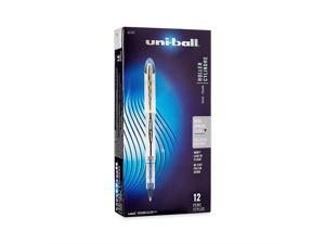 uni-ball Vision Elite BLX Infusion Rollerball Pens, Bold Point (0.8mm), Blue/Black, 12 Count