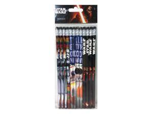 "Disney Star Wars""The Force Awaken"" 12 Wood Pencils Pack"