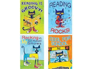 "Teacher Created Resources Posters Pete the Cat 13-3/8""x19"" 4 Posters/ST Multi"