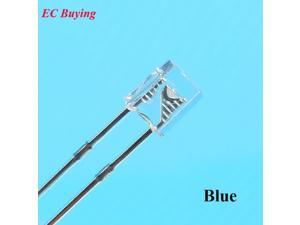 EC Buying 100pcs 2X3X4 LED Blue Transparent DC Rectangle LED-Light Emitting Diode 2 * 3 * 4 mm Ultra Bright Bulb