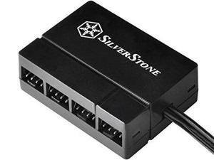 SilverStone Technology CPF04 All Black 1-to-8 PWM Fan Hub