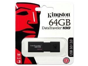 64GB Kingston DataTraveler 100 G3 USB 3.0 Flash Pen Drive DT100G3/64GB Retail