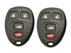 2 Pack Discount Keyless Entry Remote Car Key Fob Case Shell Cover Button Pad For IYZ3312
