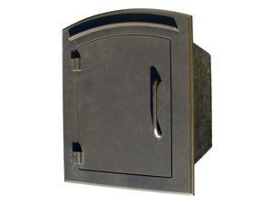 Door Column Mounting Mailbox in Cast Aluminum - The Manchester