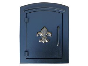 Fleur De Lis Door Column Mount Cast Aluminum Mailbox