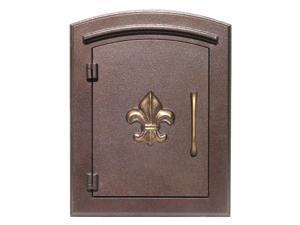 Decorative Fleur De Lis Column Mount Cast Aluminum Mailbox - The Manchester