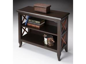 Butler Newport Black & Cherry Low Bookcase