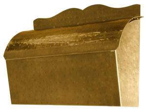 Roll Top Mailbox in Antique Hammered Brass Finish