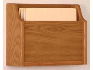 Wooden Mallet Home Office Deep Pocket Letter Size File Holder Wall Display Storage Rack Furniture Medium Oak