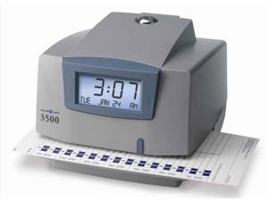 """Pyramid Time Systems Light-Duty Time Clock Electronic 6""""x5-1/2""""x5"""" GY/Charcoal"""