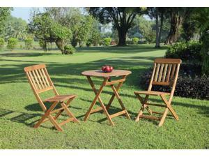 3-Pc Cafe Set in Teak Finish