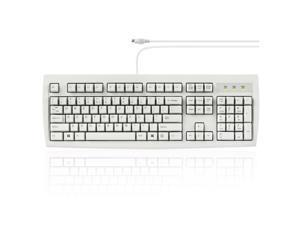 Wired PS2 Full Size Performance Keyboard - White - US English - Perixx PERIBOARD-107W
