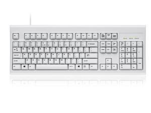 3383c310318 Perixx PERIBOARD-106 US, Wired USB Standard Keyboard, 104 Curve Keys Basic  and