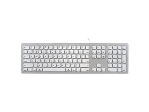 a3ab620160e Perixx PERIBOARD-325 Wired Silent Backlit Aluminum Keyboard, Compatible  with Mac OS X iMac