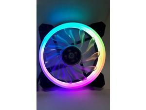 EPOWER 120mm Quiet RGB LED PWM Single Fan For Expanding EPOWER RGB Fan Set