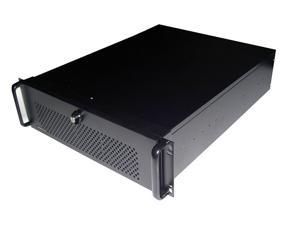 "TOPOWER TP-3066B-500 3U BLACK RACKMOUNT SERVER CASE WITH 3U 500W POWER SUPPLY, 5 EXTERNAL 5.25"" BAY, DOOR"