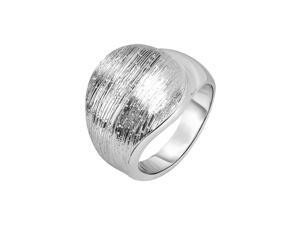 Silver with Rhodium Finish 4-16.4mm Wood Finish Fancy Graduated Ring