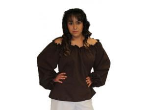 Alexander Costume 14-190-BR Carribean Blouse Costume, Brown
