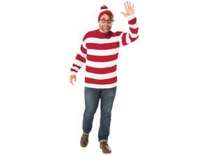 Where's Waldo Deluxe Adult Costume - Standard