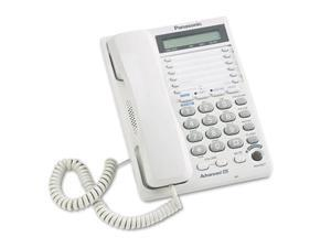 Panasonic KX-TS208W Corded Phone 2 x Phone Line(s) - Headset - White