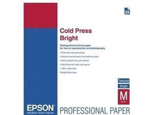 Epson - S042311 - Epson Inkjet Fine Art Paper - 98% Opacity - 17 x 22 - 340 g/m Grammage - Textured, Matte - 25 / Pack -