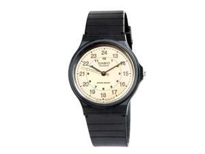 Casio 3-Hand Analog Water Resistant Watch (Black)