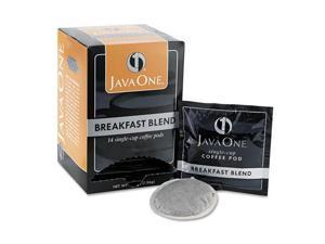 JAVA Trading 30220 Coffee Pods, Breakfast Blend, Single Cup, 14/Box