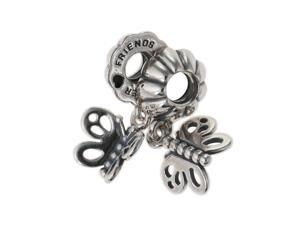 Genuine PANDORA Sterling Silver Butterfly Friends Forever Charm 790531