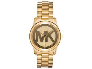 Michael Kors Womens Runway Gold-tone Stainless Steel Watch