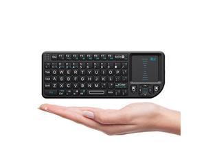 Rii 2.4G Mini Wireless Keyboard with Touchpad Mouse,Lightweight Portable Wireless Keyboard Controller with USB Receiver Remote Control for Windows/ Mac/ Android/ PC/Tablets/ TV/Xbox/ PS3. X1-Black