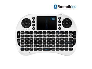 Rii i8 Bluetooth Mini Wireless Keyboard With Touchpad (White)