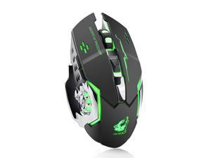 X8 Wireless Rechargeable Game Mouse Silent Illuminated Mechanical 1800Dpi 2.4G USB Mouse 7 Color