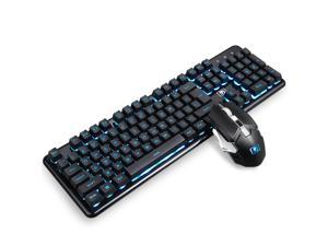 Wireless Keyboard and Mouse Combo, Rechargable  Backlit Waterproof Keyboard, 2.4GHz Dropout-Free Connection,Long Battery Life, Wireless Moues for PC/Laptop/Mac
