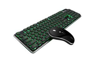 Wireless Rechargeable Gaming Keyboard and Mouse set, 104Keys 2.4G Wireless backlight Waterproof Keyboard and Silent Mouse for PC Laptop