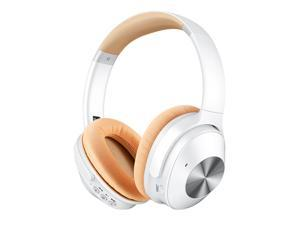 Wireless Headset Wireless Bluetooth 5.0 Stereo Active Noise Cancelling Foldable Over Ear Headphones with Microphone