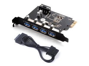 Desktop 4 Port USB3.0 PCI-Express control adapter card with PCI Bracket for Mac/Windows