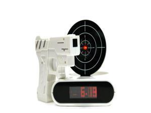 "Unique 2.3"" LCD dispaly gun alarm clock gun shooting clock"