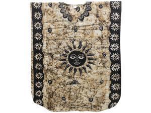 La Leela 100 Cotton Batik Sun Design Printed Black Color