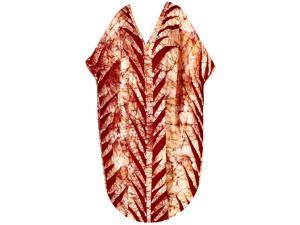 La Leela 100 Cotton Leaf Batik Printed Brown Color