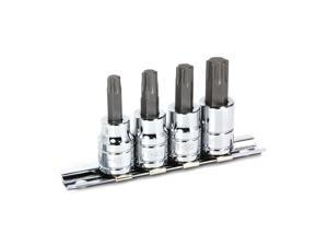 Powerbuilt 4 Piece 3/8-Inch Drive Star Bit Socket Set - 640316